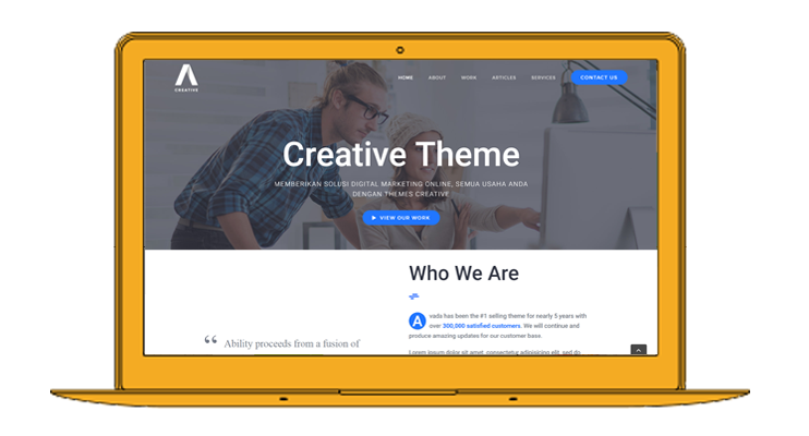theme creative gratis