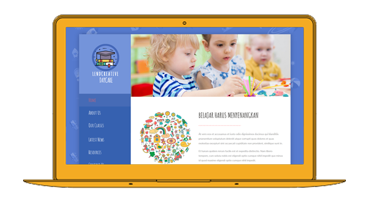 Jasa website daycare